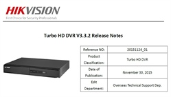 Hikvision Turbo HD firmware versione 3.3.2 build 151123